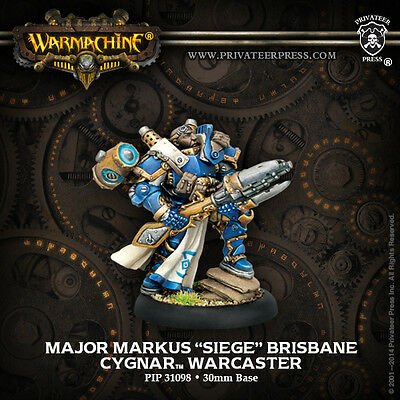 Warmachine Cygnar Warcaster Major Markus Siege Brisbane