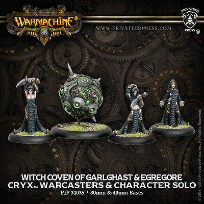 Warmachine Cryx Warcaster The Witch Coven of Garlghast
