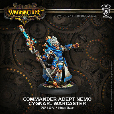 Warmachine Cygnar Warcaster Commander Adept Nemo '10