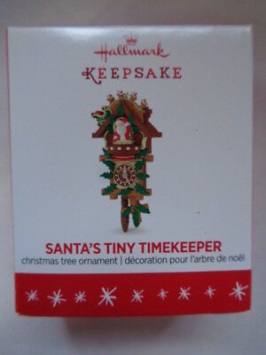 Hallmark 2016 miniature ornament Santa's Tiny Timekeeper cuckoo clock