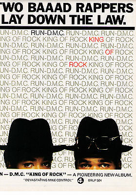1985 Run D.M.C. King Of Rock Album Trade Print Advertisement
