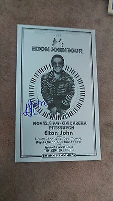 Elton John Autographed 1974  First Printing Autographed  Concert Poster