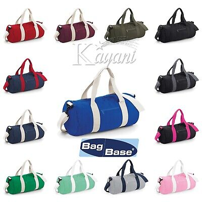 Bagbase Varsity Original Barrel Bag Sports Gym School Travel Holdhall Unisex Bag