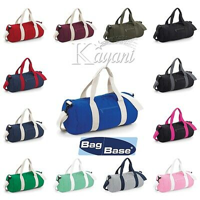 Bagbase Varsity Original Barrel Bag Sports Gym Travel Holdhall Unisex Camo Bag