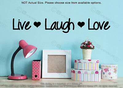 Live Laugh Love Wall Decal Removable Vinyl Indoor Sticker Motivational Quote