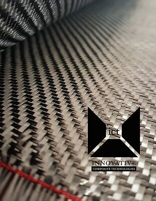 "Carbon Fiber Fabric / Cloth:  2x2 Twill Weave - 5.7 oz, 1 yard, 50"" wide x 36"""
