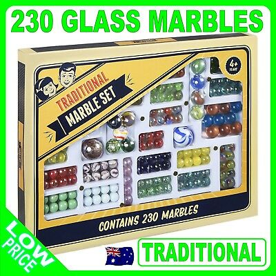 230 Traditional Glass Marbles Marble Set Game Childrens Toy Decorative Craft