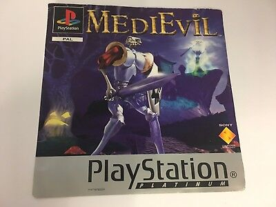 Medievil  - Original Sony Playstation 1 Ps1 Case Front Cover