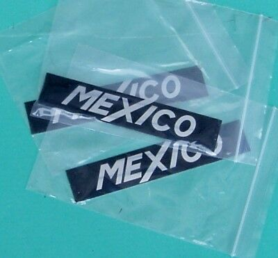 Ford Escort Mk 1 Mexico Badge Inserts, New.     Post Free Uk !
