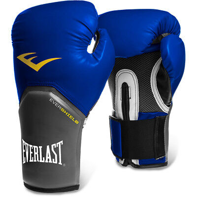 Everlast Pro Style Elite Training Boxing Gloves Mitts Grey/Yellow SALE PRICE!