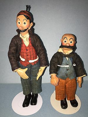 Early Antique Mutt And Jeff Comic Character Bucherer Switzerland Original NM+