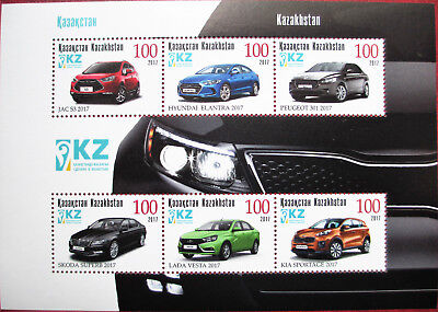 Kazakhstan  201  Different types of Cars    S/S  MNH