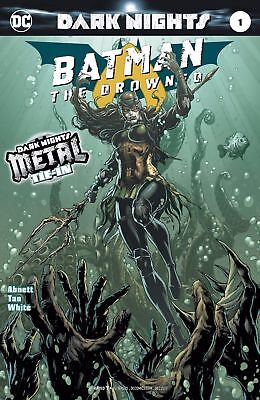Batman The Drowned 1 1St Print Foil Stamped Cover Metal Tie In