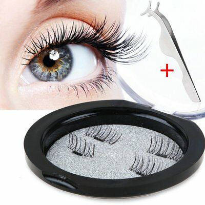 3D Magnetic False Eyelashes Natural Eye Lashes Extension 4Pcs Handmade With BYT