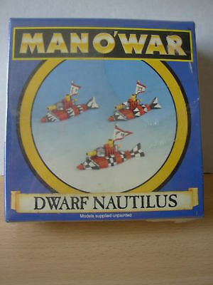Fantasy Man o'War Dwarf Nautilus Squadron x 3 New Sealed in Box Rare OOP