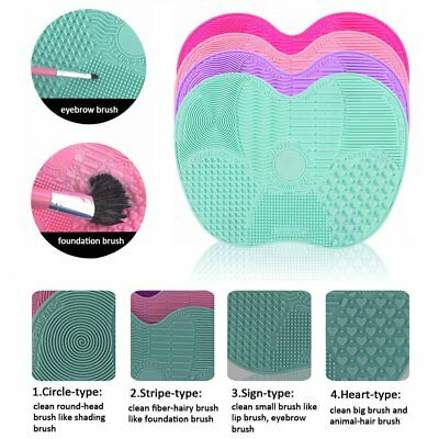 New Silicone Makeup Brush Cleaner Washing Scrubber Board Cleaning Mat Tool YT