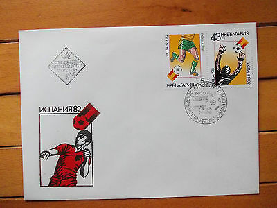 First Day Cover Bulgaria Espana 1982 World Cup