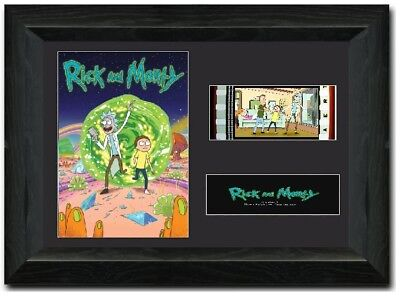 Rick and Morty FRAMED Stunning 35 mm Film Cell Display Comic con