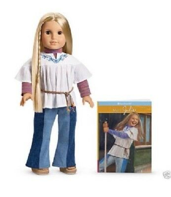 American Girl Doll Classic Julie with Paperback Book NEW!!