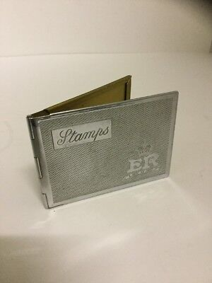 A Vintage Art Deco Chrome Plated Stamp Case. Nice Quality. Solid. No Monogram.