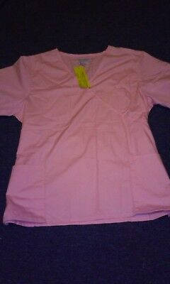 3X Light Pink Scrub Set Top & Bottom  New With Tags