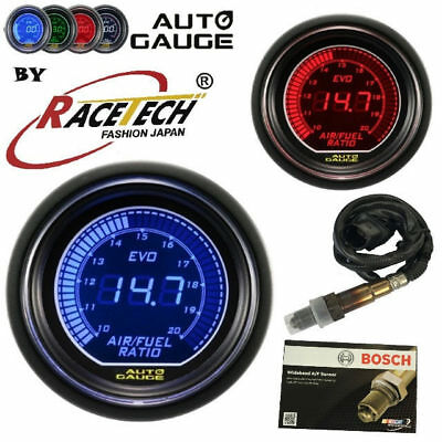 AUTOGAUGE EVO 52MM Wideband Air Fuel Ratio GAUGE BLUE RED Inc Bosch Sensor