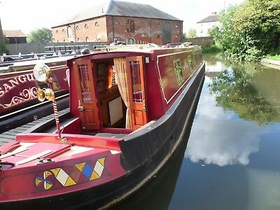 Sarashay 57ft Traditional Style Stern Narrowboat Currently Moored Outside Derby
