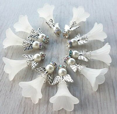 New!!  Christmas Tree Hanging Decorations 10 Large Guardian Angel Charms