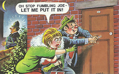 Vintage 1970's Bamforth COMIC Postcard (as new condition) let me put it in #445