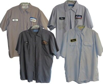 Lot of 4 Used Work Shirt Short Sleeve Pick Your Size Mixed Colors Cintas Red Kap