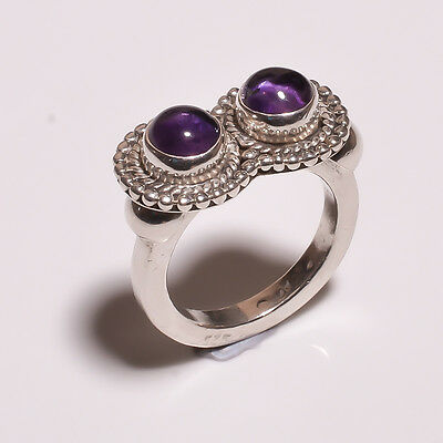 925 Solid Sterling Solid Silver Ring With Amethyst (IHH)