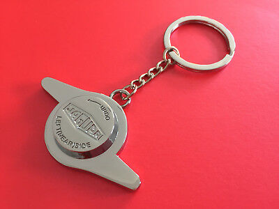 Jaguar Wire Wheel Spinner Key Ring Keyring Heritage Le Mans Classic E-Type MK