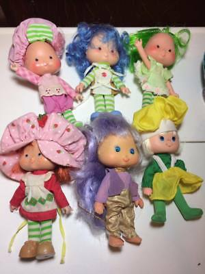 "1979 Strawberry Shortcake 5"" tall toy figurines set of 6"