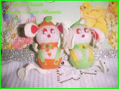 Pair of Adorable Vintage Easter Bunny Rabbits