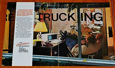 Cool 1988 Chevy Truck Fleet Department Ad - American Trucking Retro 80S Office