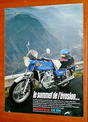 French 1981 Honda Cx 500 Motorcycle / Bike Ad - Retro 80S Vintage Classic Moto