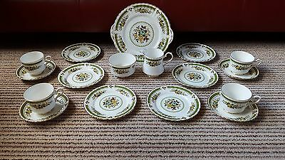dovedale royal stafford bone china tea set spotless condition