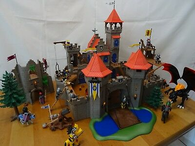 3667 playmobil ritterburg mit tunier zelt 7855 markt stand. Black Bedroom Furniture Sets. Home Design Ideas