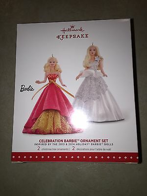 Hallmark Celebration Holiday Barbie Ornament Set Limited Edition 2015 HTF (6)#