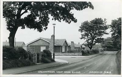 Real Photographic Postcard Of Westmoor Close, Spennymoor, County Durham, Judges