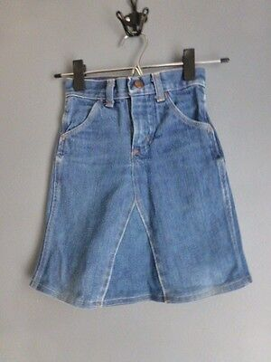 Vintage girls denim skirt size 6 slim Maverick Made in USA A line style