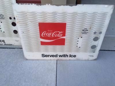 Vintage Coke Coca-Cola Ice Fiberglass Vending Machine Insert Sign Parts