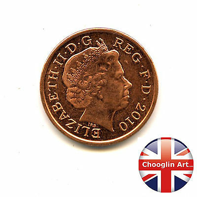 A 2010 British Copper Plated Steel ELIZABETH II One penny coin