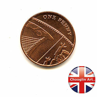 A 2012 British Copper Plated Steel ELIZABETH II One penny coin
