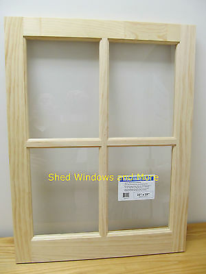 "Wooden Barn Sash Window 24 x 29"" Barns sheds garages"