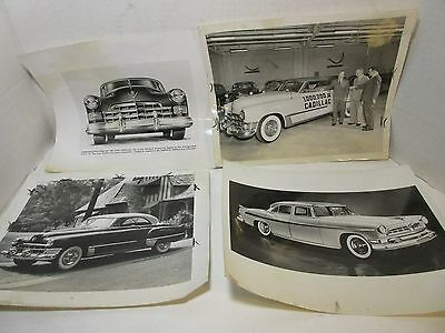 Lot of 6 Vintage BW Auto Photos 1940's Cadillac 8x10 Press Release  #3