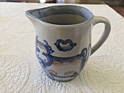 M.A Hadley Pottery Cow Pitcher