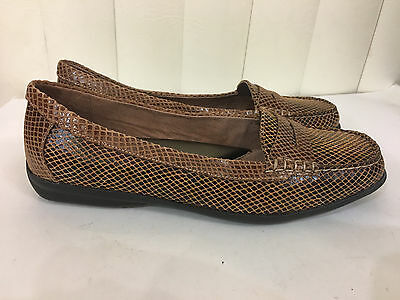 9b5c580bb16 Hush Puppies Dahshur Black Camel Leather Loafers Flat Moccasins Size 6-10  WIDE