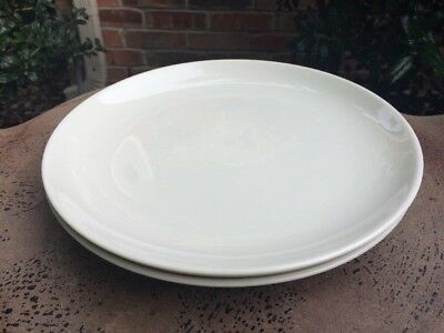 """Iroquois Russel Wright CASUAL WHITE Dinner Plate 10"""" Set Of 2"""