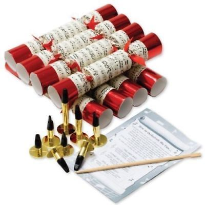 Robin Reed Luxury Deluxe Box 8 Red Musical Concerto Whistle Christmas Crackers